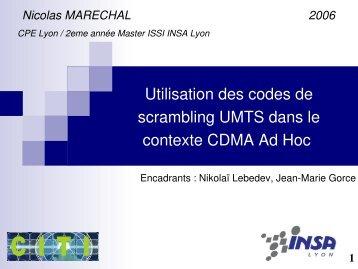 Utilisation des codes de scrambling UMTS dans le contexte CDMA ...