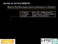 Mesures électrochimiques dans les liquides pour le Nucléaire