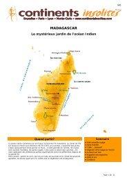 MADAGASCAR - Continents Insolites