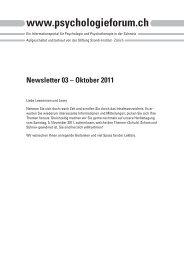 Newsletter 03 – Oktober 2011 - Szondi-Institut