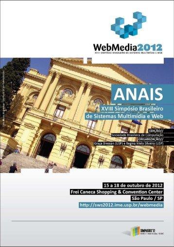 Anais de Workshops do Webmedia 2012 - Simpósios SBBD ...