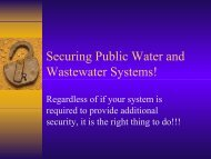Securing Public Water and Wastewater Systems! - Florida Rural ...
