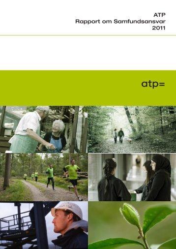 ATP Rapport om Samfundsansvar 2011