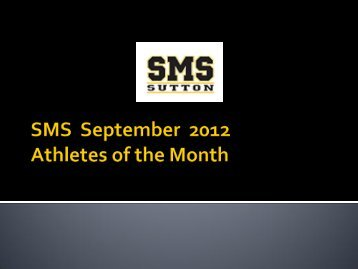 SMS ?????? 2012 Athletes of the Month - Atlanta Public Schools