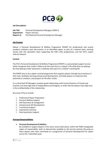 1St Xi Cricket Coach Job Description - The Professional Cricketers
