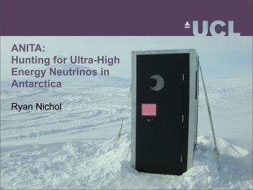 ANITA: Hunting for Ultra-High Energy Neutrinos in Antarctica
