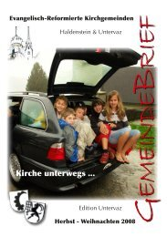 GB Uv 2008 - Reformierte Kirchgemeinde Untervaz