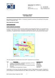 BAS Quarterly Report September 2006 - 1 ... - Bass Strait Oil