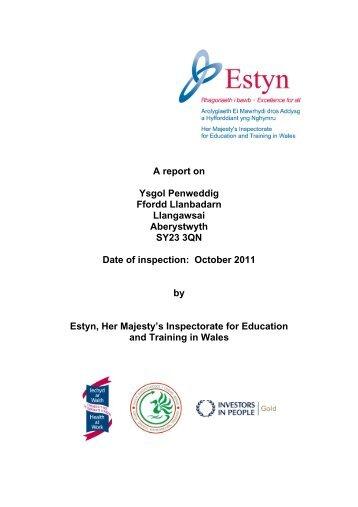 A report on Ysgol Penweddig Ffordd Llanbadarn Llangawsai ... - Estyn