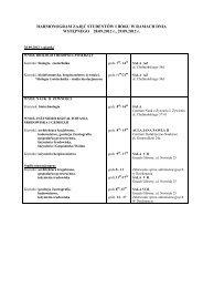 HARMONOGRAM ZAJĘĆ STUDENTÓW I ROKU ... - Rekrutacja na UP