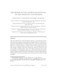 Agile Modeling for Urban and Environmental Systems ... - UrbanSim
