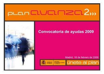 Convocatoria de ayudas 2009 - Plan Avanza