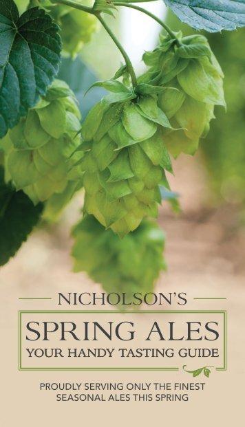 SprINg aLeS - Nicholson's Pubs