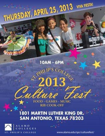 Download the Culture Fest Vendor Application - Alamo Colleges
