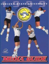 1999 Volleyball Yearbook - Indiana State University Athletics