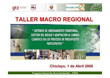 Programa del Taller - pdf - Riesgo y Cambio Climático