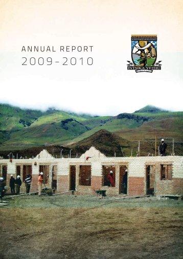 annual report 2009 - 2010 - Intsika Yethu Municipality