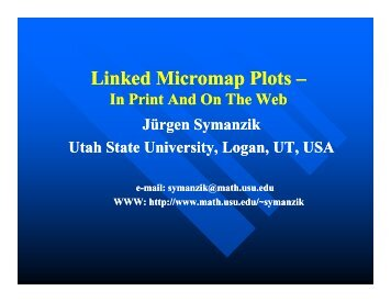 (2) Linked Micromap Plots - Department of Mathematics & Statistics ...