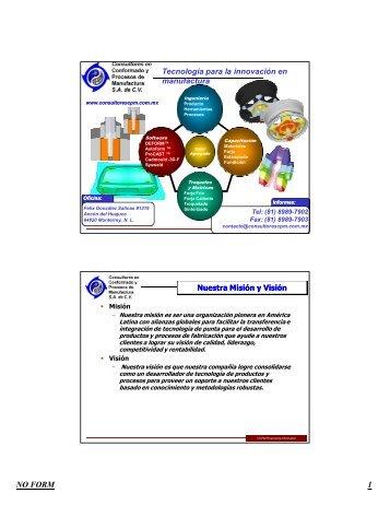 Troquelado y Estampado- Servicios y Productos - Consultores en ...