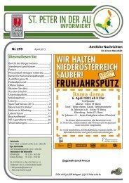 Infoblatt Nr. 299 April 2013 - in St. Peter in der Au