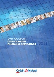 cm10-cic group consolidated financial statements 2011 - Banque ...