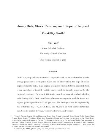 Jump Risk, Stock Returns, and Slope of Implied Volatility Smile∗