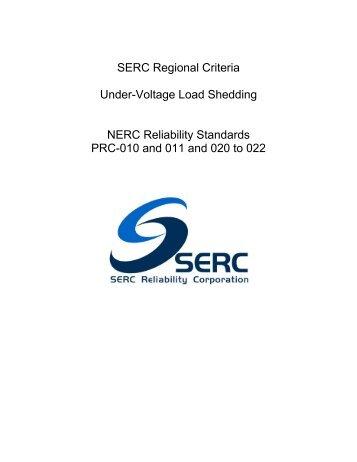 SERC Reg Criteria_UVLS_Rev 7 (10-06-11).pdf - SERC Home Page