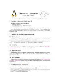 Manuel de connexion sans fil sous Linux - VIA Centrale Réseaux