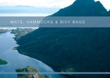 MATS, HAMMOCKS & BIVY BAGS - Tents, Tarps, Mosquito Nets ...