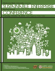 ConferenCe SuSTAinAble eNTerpriSe - Center for Executive and ...