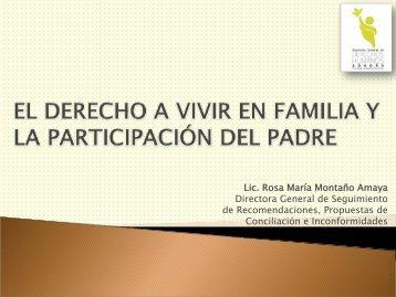 el derecho a vivir en familia y la participación del padre