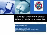 eHealth and the Consumer: where will we be in 10 years' time?