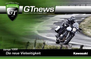 """Die neue Vielseitigkeit - """"GTonline""""! - Kawasaki"""