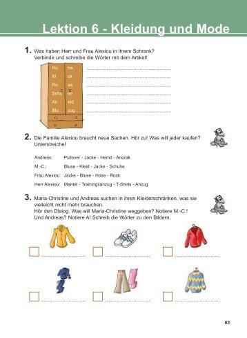Lektion 6 - Kleidung und Mode
