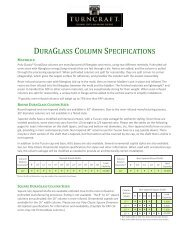 DURAGLASS COLUMN SPECIFICATIONS - Turncraft