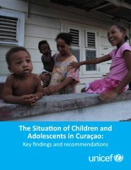 The Situation of Children and Adolescents in Curaçao: - Pers - Unicef
