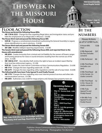 may 12.indd - Missouri House of Representatives
