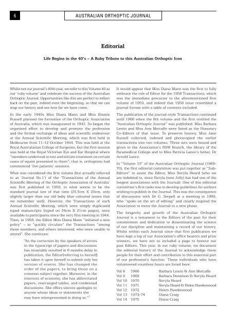 Advertising in the Australian Orthoptic Journal - International ...