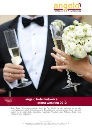angelo hotel katowice oferta weselna 2012