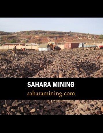 SAHARA MINING - The International Resource Journal