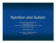 Nutrition and Autism - Pope's Kids Place