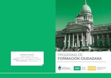 PROGRAMA DE FORMACIÓN CIUDADANA