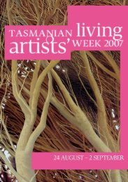24 AUGUST – 2 SEPTEMBER - Arts Tasmania