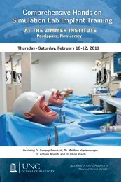 Comprehensive Hands-on Simulation Lab Implant Training