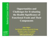 Opportunities and Challenges for Evaluating the Health Significance ...