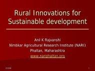 Rural Innovations for Sustainable development - NARI