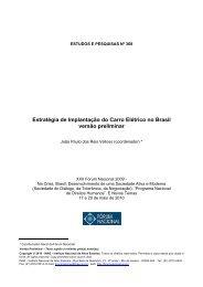 Estratégia de Implantação do Carro Elétrico no Brasil - Tn Sustentável