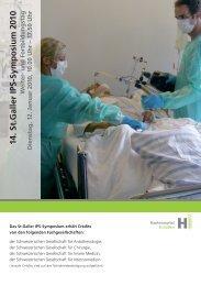 14. St.Galler IPS-Symposium 2010 - Institut für Anästhesiologie ...