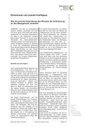 Emotionale und soziale Intelligenz - Kossmann Braun & Partner