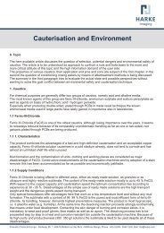 Cauterisation and Environment - HARKE Group